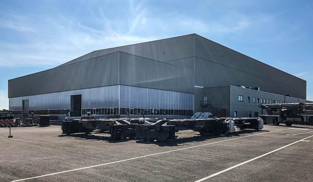 Liebherr Ehingen - Produktionshalle in Stahlbauweise