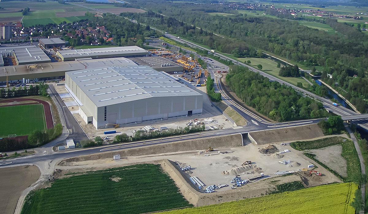 Liebherr Kirchdorf – Produktionshalle in Stahlbauweise